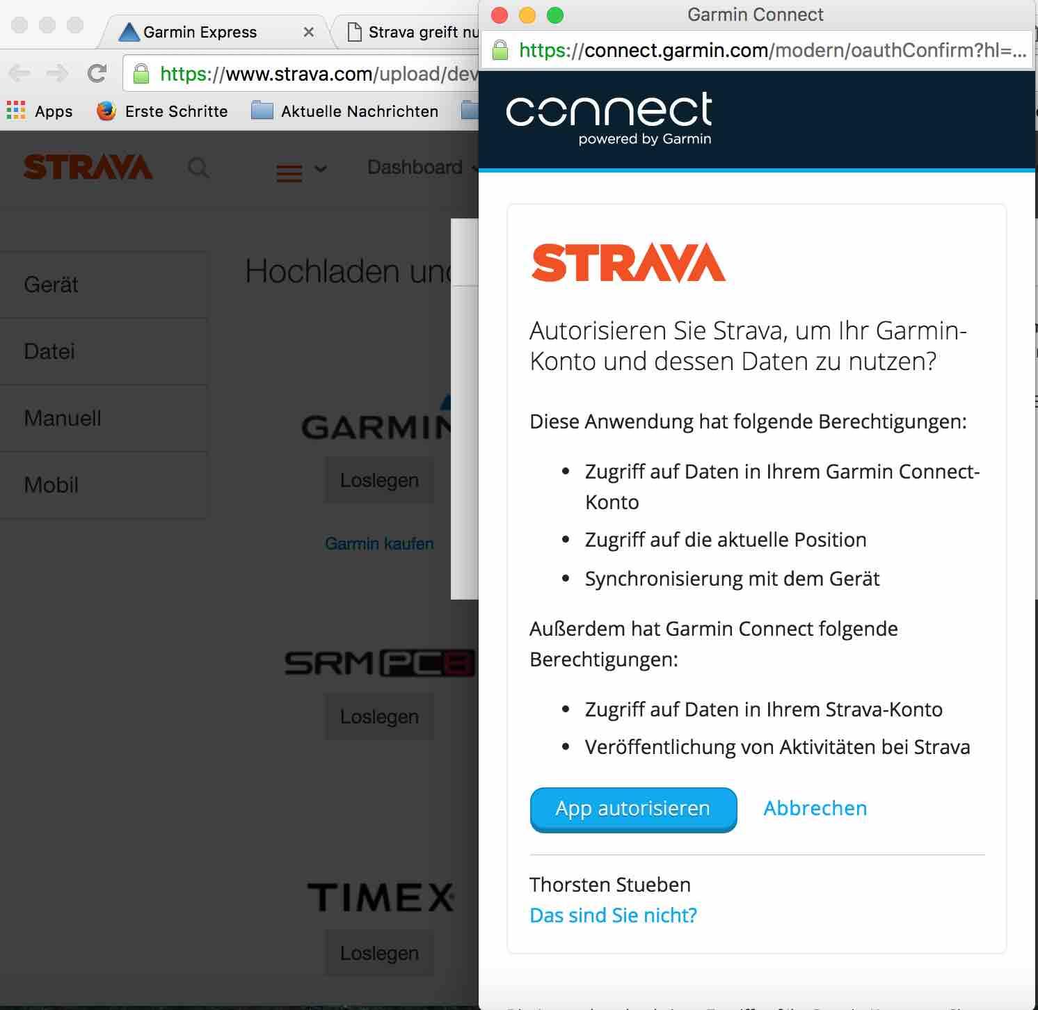 Strava Mit Garmin Connect Verbinden Stübis Triathlon Blog